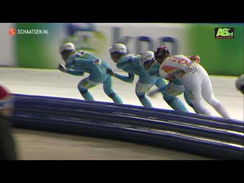 Peter Michael uit Nieuw-Zeeland wint 'knotsgekke' schaatsmarathon in Dronten