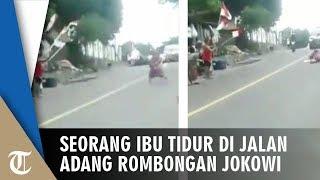 Aksi Seorang Ibu Nekat Tidur di Jalan Cegat Rombongan Jokowi di Lombok, Ini Motifnya