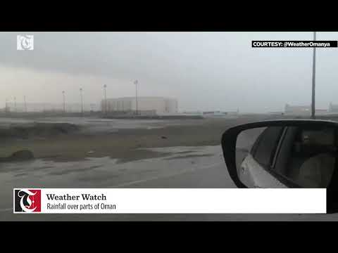 Watch: Heavy rainfall at Masirah Island