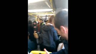 Crazy bogan lady loses her shit on Melbourne train