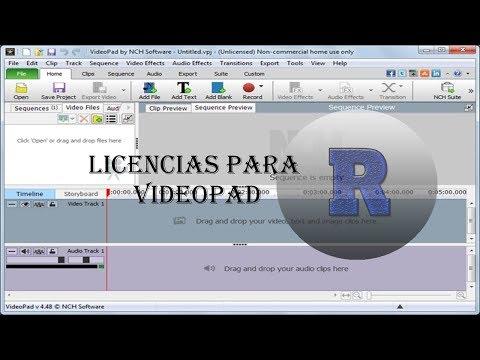 codigo de registro de videopad 4.57