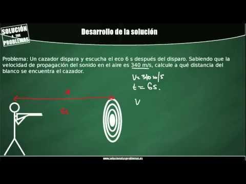 Velocidad del sonido. Calcular distancias a partir del eco.