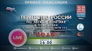 Первенство России U23 в помещении 2018 - 2 день