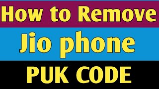 how to unlock puk code sim card in jio phone in tamil - Thủ