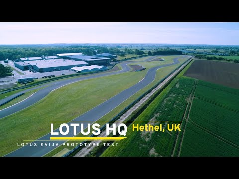 Lotus Evija development prototype on test at Hethel