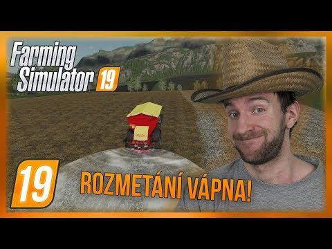 ROZMETÁNÍ VÁPNA! | Farming Simulator 19 #19