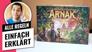 Die verlorenen Ruinen von Arnak • Regeln / Anleitung • Brettspiel