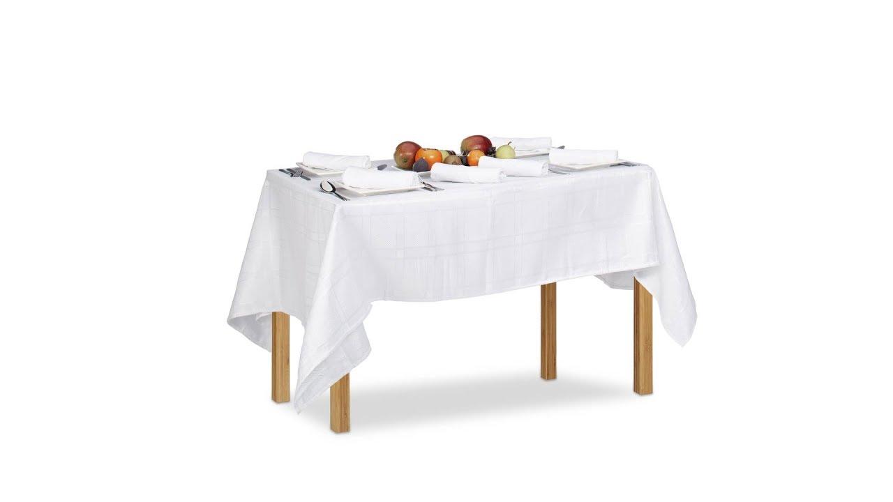 Video von: Tischwäsche weiß mit 6 Servietten