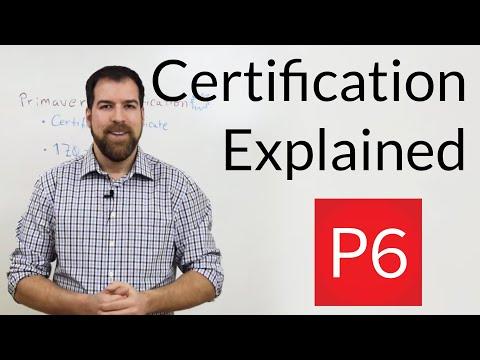 Primavera P6 Certification Explained - YouTube