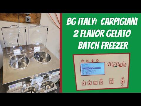 BG Italy - Carpigiani 2 flavor gelato batch freezer