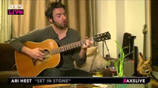 "Ari Hest Performs ""Set In Stone"" on AXS Live"
