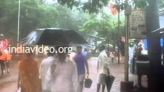 Market Road in Matheran, Maharashtra