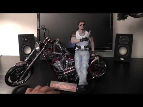 Hot Toys Barney Ross on 1:5 scale West Coast Chopper Bike