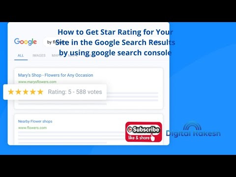 How to Get Star Rating for Your Site in the Google Search Results by using google search console