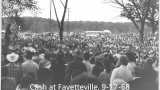 """Johnny Cash, """"Five Feet High and Rising,"""" Fayetteville, Arkansas, 1968"""