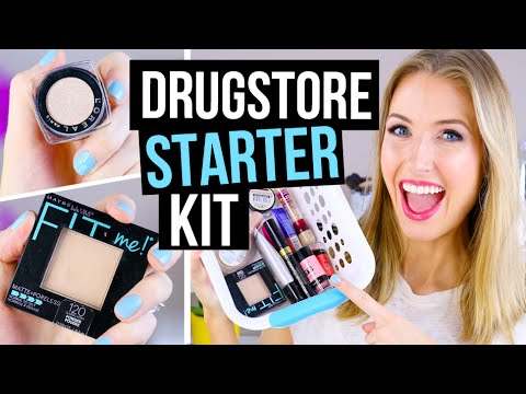 , title : 'Beginner Makeup Tips & Starter Kit || Drugstore Faves!'