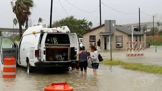 07/25/2020 Corpus Christi, TX- Hurrican Hanna Causes Major Flooding In North Beach