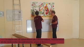 Sauvegarde de la fresque la Flûte enchantée