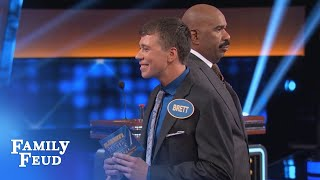 Well, THIS QUESTION ain't gonna ASK ITSELF! | Celebrity Family Feud | OUTTAKE - dooclip.me