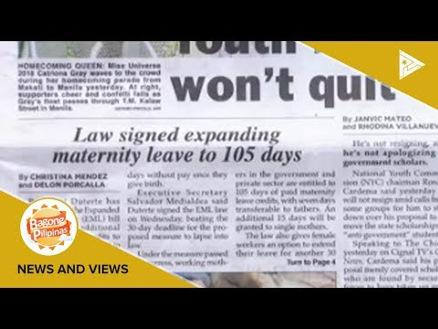 NEWS & VIEWS | Law signed expanding maternity leave to 105 days