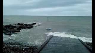 Car Floating In Sea At Borth, Ceredigion