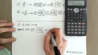 Scientific Calculator: Conversion between Fraction & Decimal