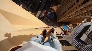Dubai building jump will take your breath away