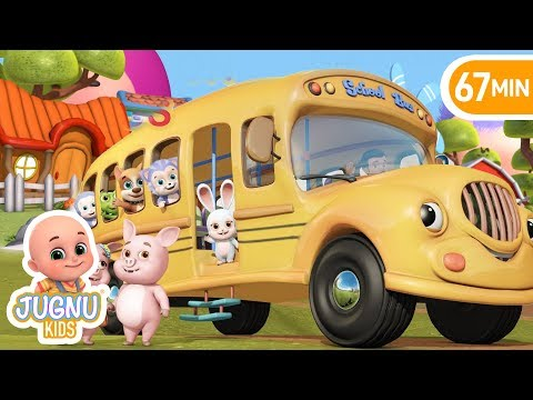 The Wheels on the Bus - Animal Sounds - Education Nursery Rhymes compilation from Jugnu Kids