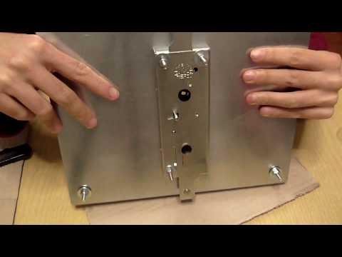 Piastra e serratura PREFER per porta basculante