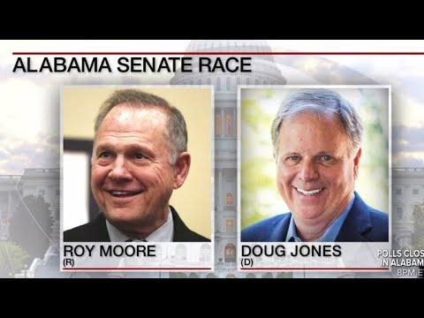 Tight race between Roy Moore and Doug Jones