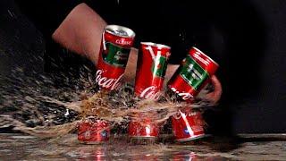 Острый нож против банок coca cola