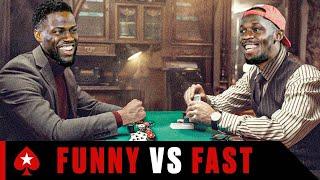Kevin Hart Plays Usain Bolt at Challenge Poker | Part 1 | PokerStars | Kholo.pk