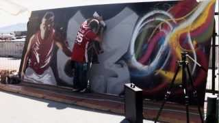 preview picture of video 'FIBA 3x3 World Tour İstanbul   Gölge Graffiti Show   YouTube'