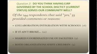 preview picture of video 'EJRP Governance Survey Results Presentation (Part 1)'
