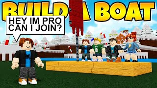 UNDERCOVER PRO JOINS NOOB TEAM *Weird...* Build a Boat