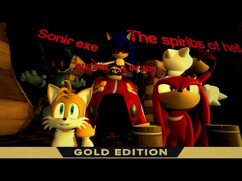 ALL FINAL ANIMATION DEATH! Sonic Exe The spirits of Hell