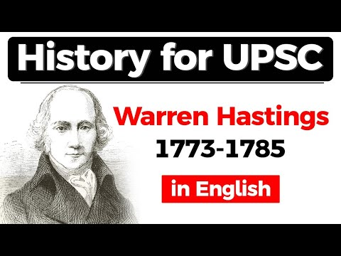 History for UPSC - Warren Hastings Former Governor General of India from 1773 to 1785 #UPSC #IAS