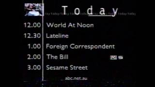 ABC TV - Friday Afternoon Programme Schedule (5/11/1999)