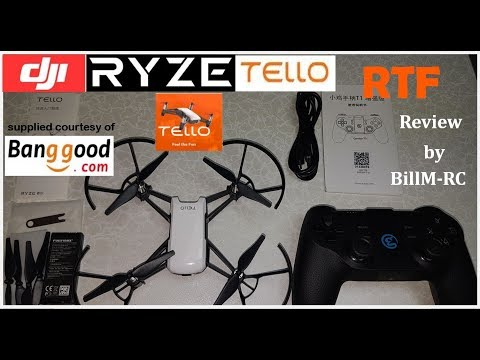 DJI Ryze Tello RTF review - includes how to connect remote controller