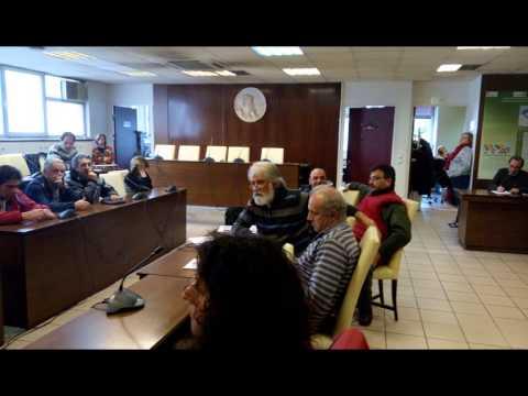 Λυκούργος Βασιλάκος–Ομιλία στη διαμαρτυρία του Σωματείου Εργαζομένων