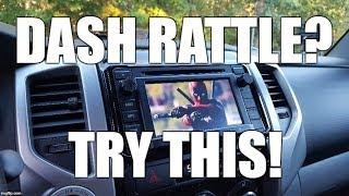 Toyota Tacoma Dash Rattle Fixed!