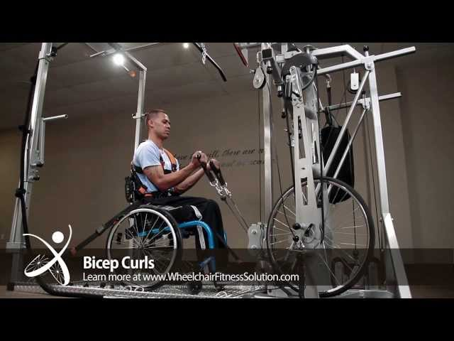 Wheelchair Fitness Solution | Exercise: Bicep Curls (16 of 40)