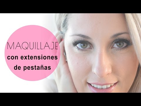 Look de maquillaje con extensiones de pestañas