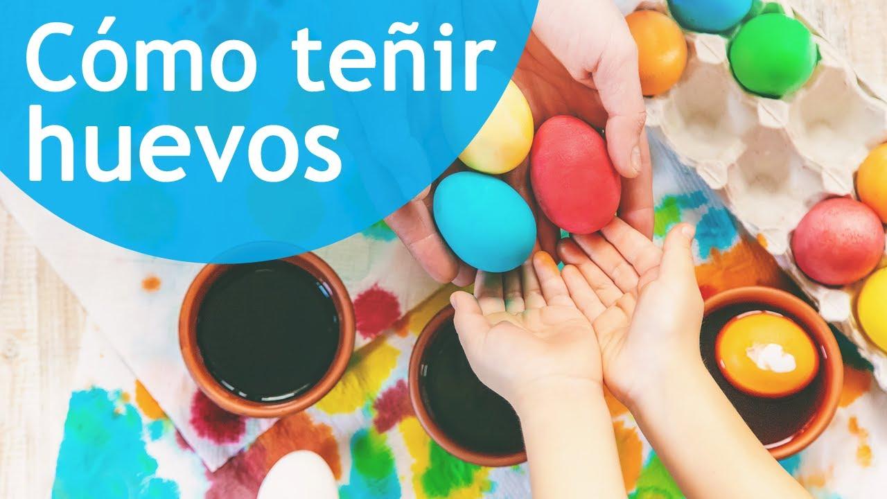 Experimentos para niños. Cómo hacer huevos de colores