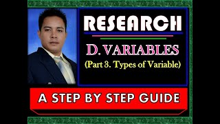 TYPES OF VARIABLES (LEARNING BY EXAMPLES), INDEPENDENT, DEPENDENT, EXTRANEOUS, INTERVENE, ETC