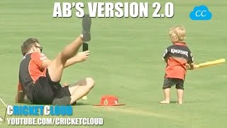 Ab de Villier's Version 2.0 - His Son Training Hard in IPL 10 - 2017 !! Biggest FAN of RCB !!