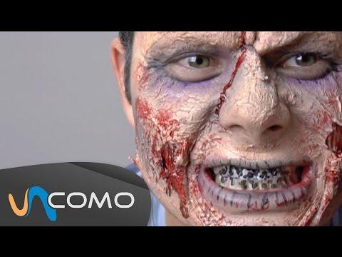 Maquillaje de zombies facil y barato (2/2)