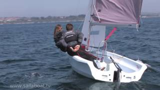 How to Sail - How to tack (turn around) a two person sailboat