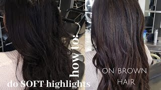 How To Do SOFT HIGHLIGHTS On Brown Hair