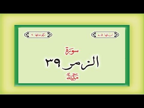 Surah Az Zumar Qari Sadaqat Ali